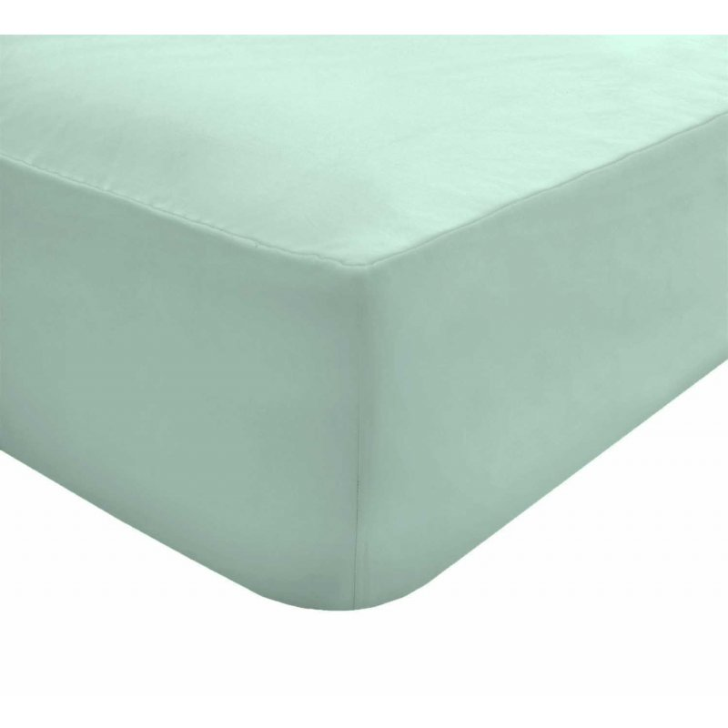 """Extra Deep Fitted Sheets 16/""""//40CM Plain Dyed Polycotton Pillowcases 2 Pack"""