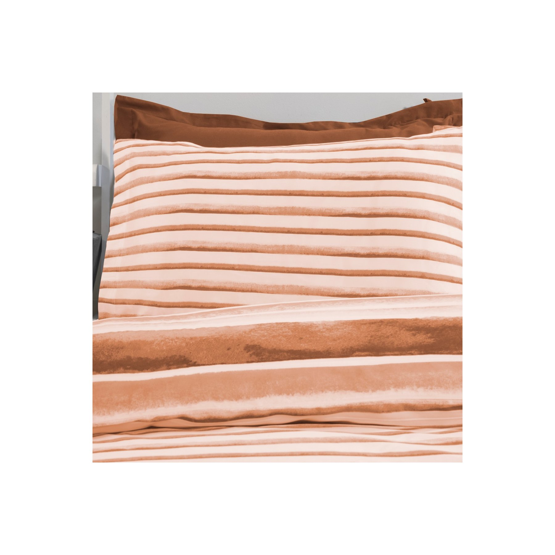 Watercolour Stripe Duvet Set Rust