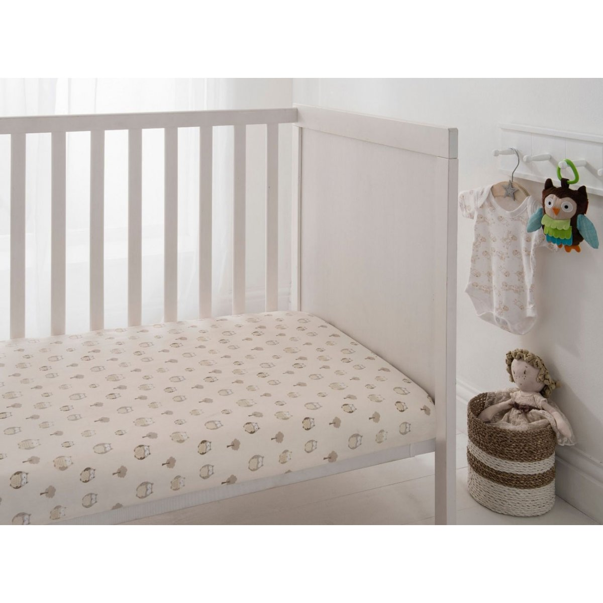 Owl Tan Crib Sheets 2 Pack