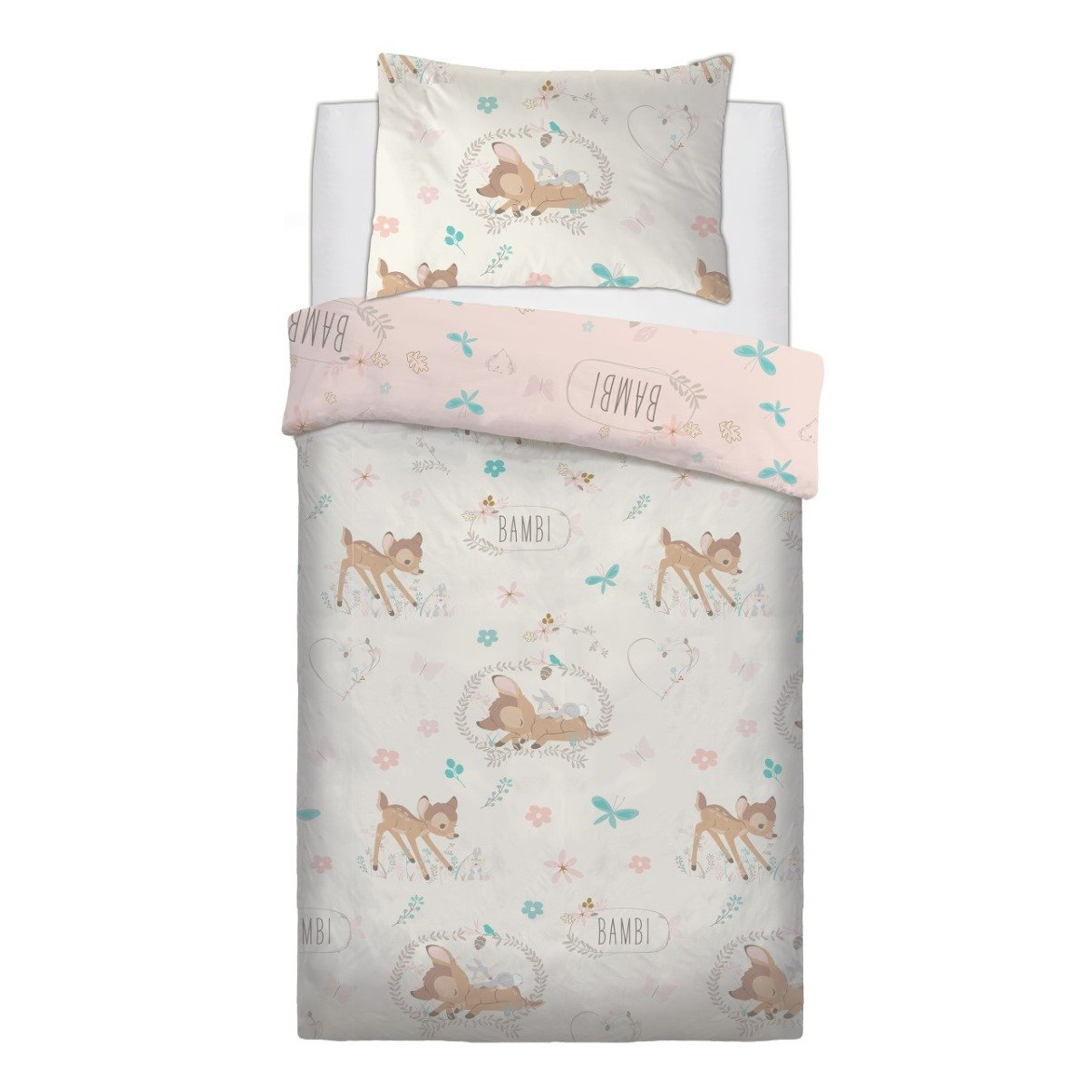 Bambi Baby Single Reversible Duvet Cover Set And Pillowcase Disney Sleepdown Official Uk Duvet Cover Sets Bedding Linen