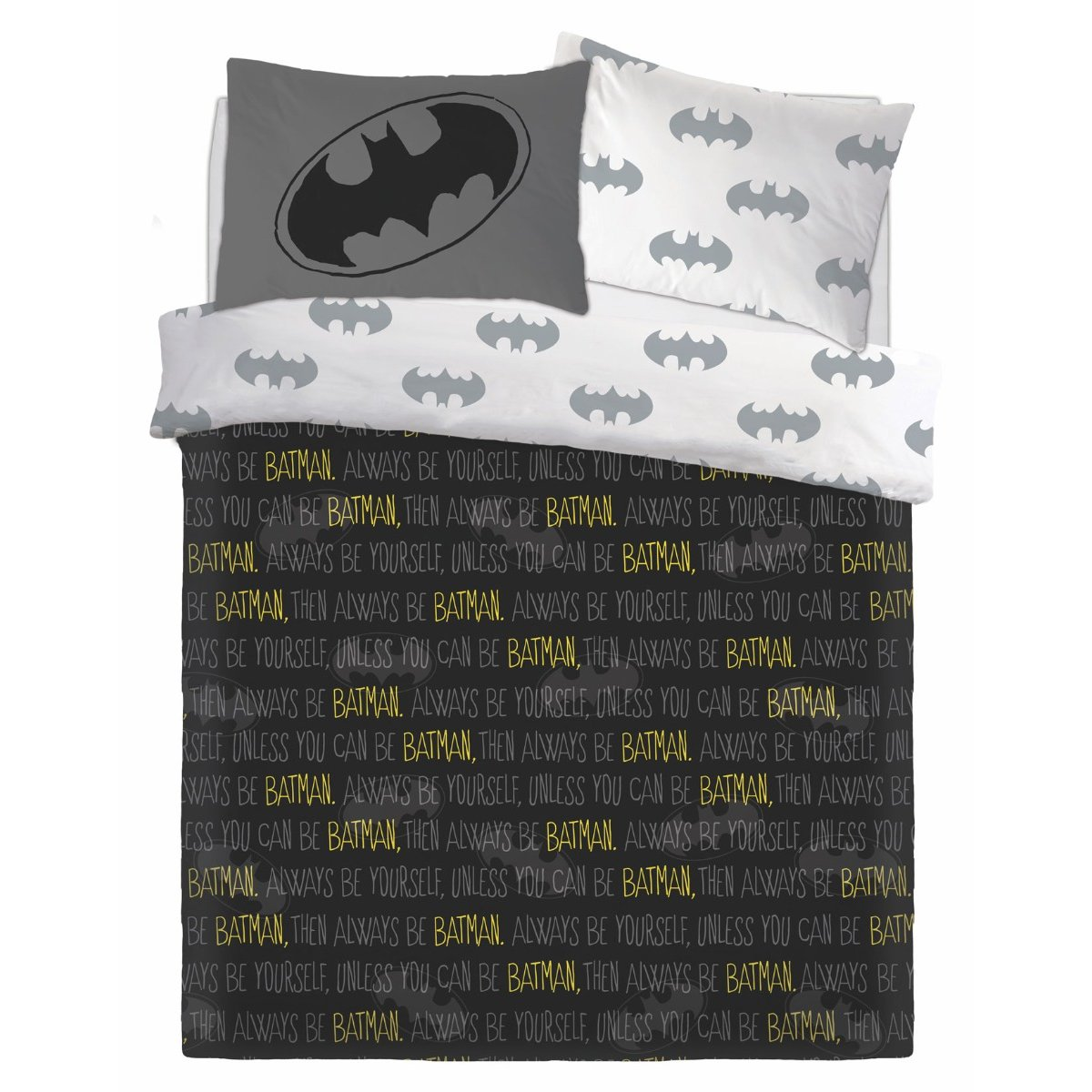 Batman Forever Bedding - Reversible Duvet Cover and Pillowcase Set