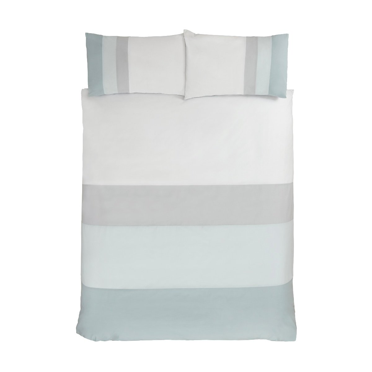 Colour Block Bedding - Reversible Duvet Cover and Pillowcase Set