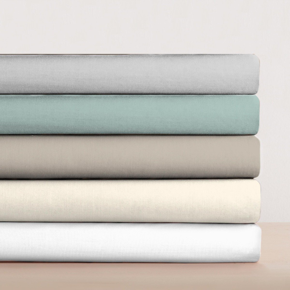 100% Egyptian Cotton 200 Thread Count Flat Sheet Ivory
