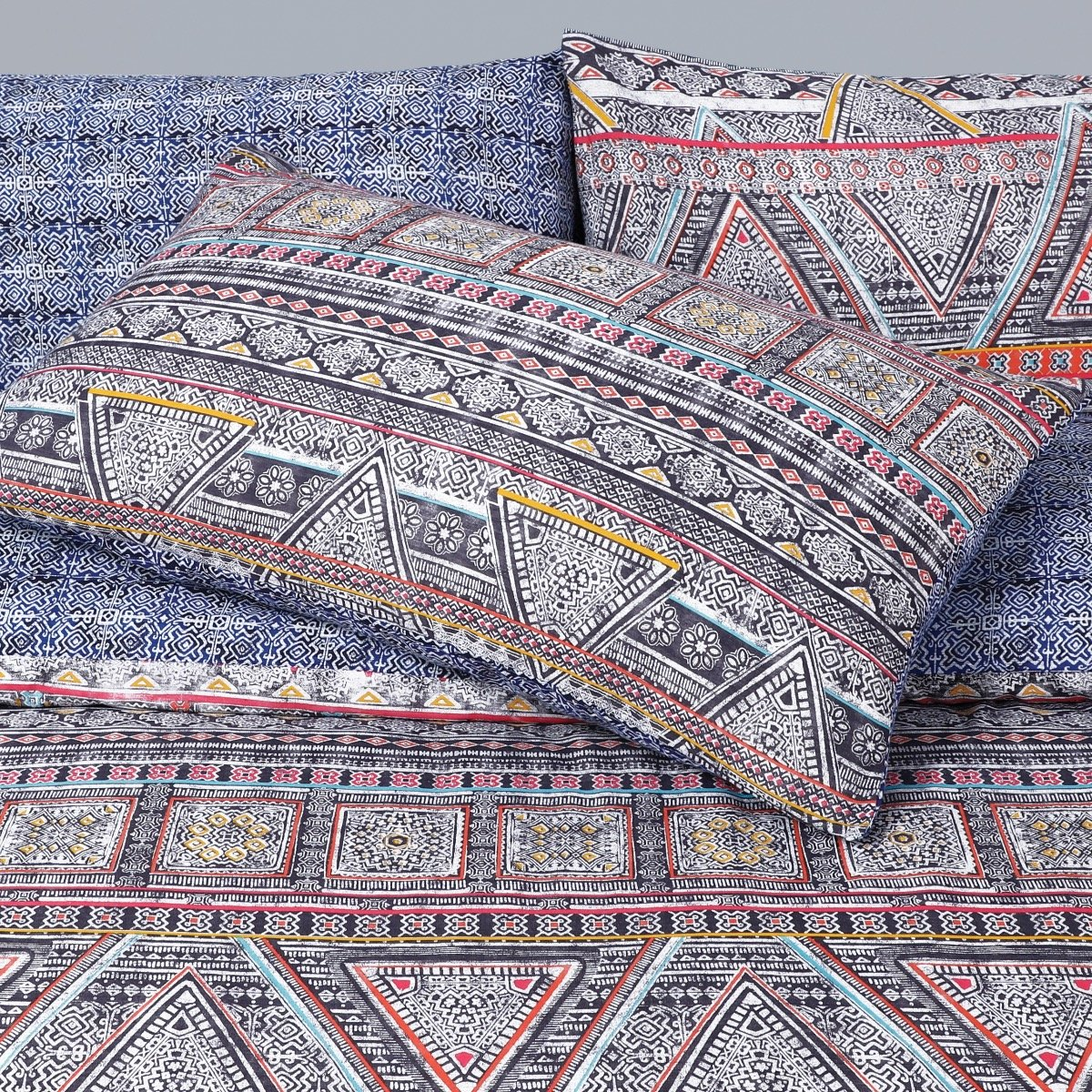 Ethnic Traveller Bedding - Reversible Duvet Cover and Pillowcase Set