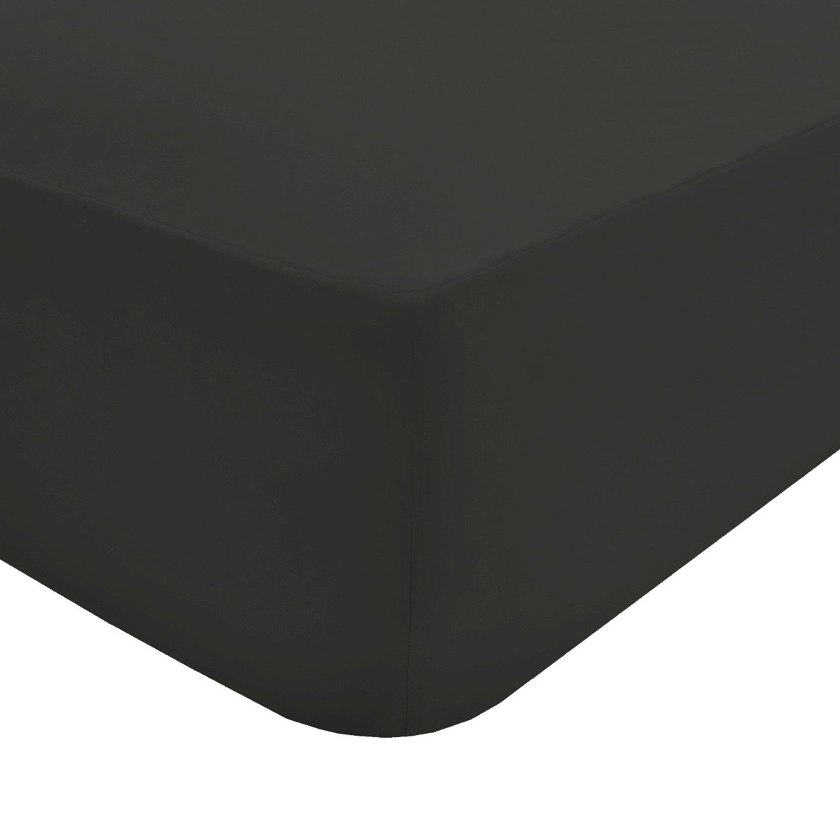 Easy Care Non-Iron Fitted Sheet Black