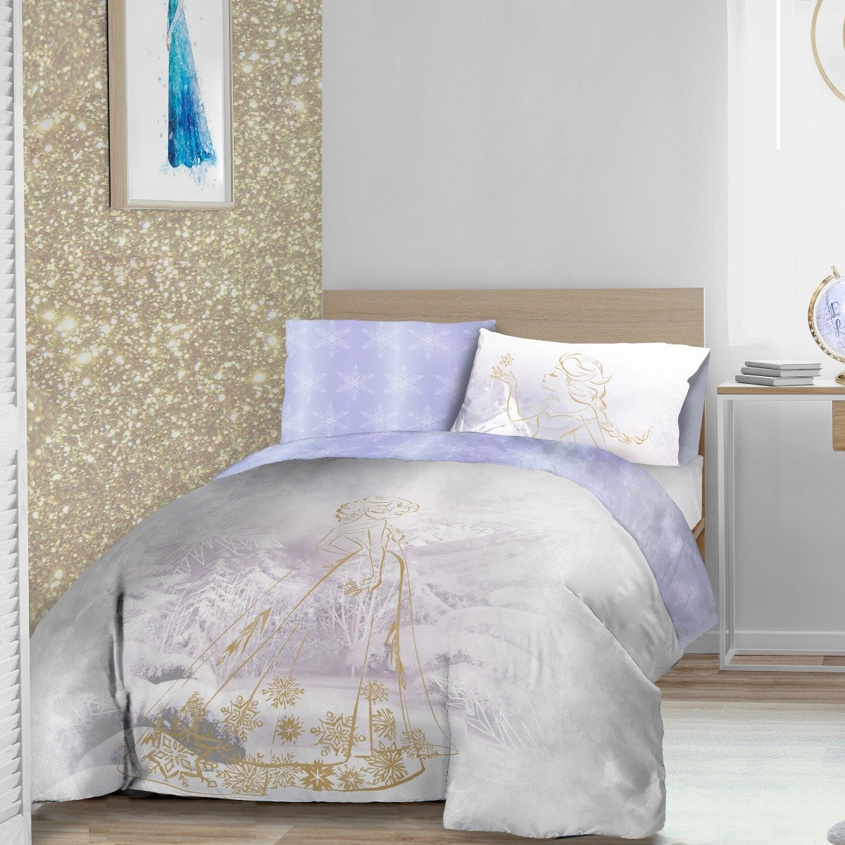 Frozen Rose Gold Bedding Set Sleepdown Official Uk Duvet Cover Sets Bedding Linen