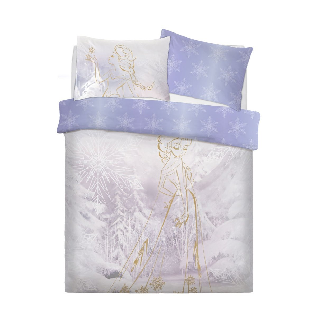 Sleepdown Official | Frozen Rose Gold Bedding Set