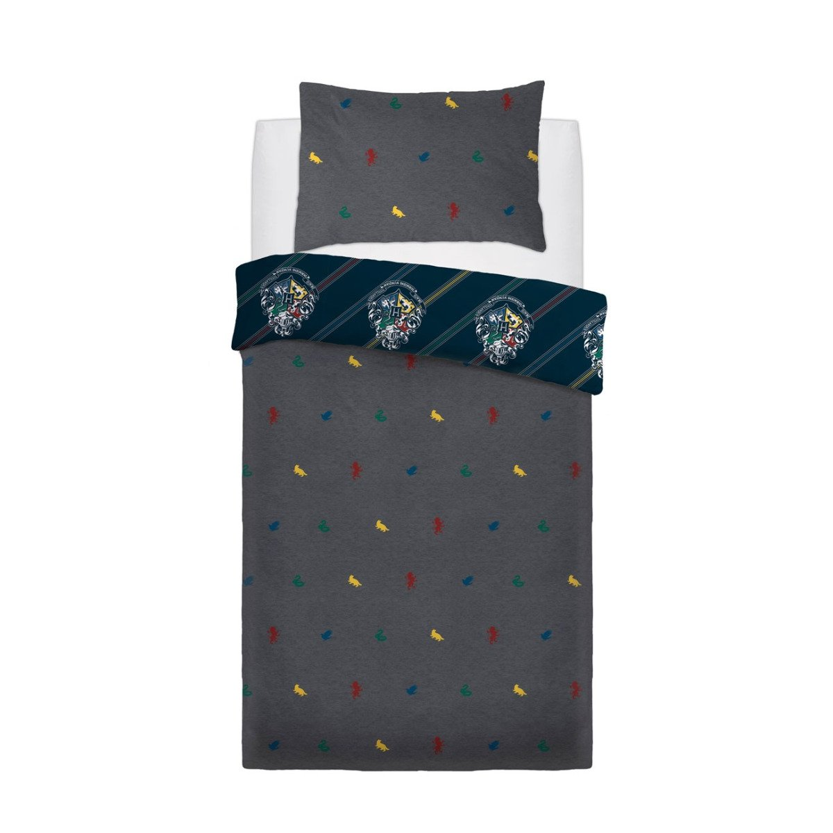Harry Potter House Colours Bedding - Reversible Duvet Cover and Pillowcase Set