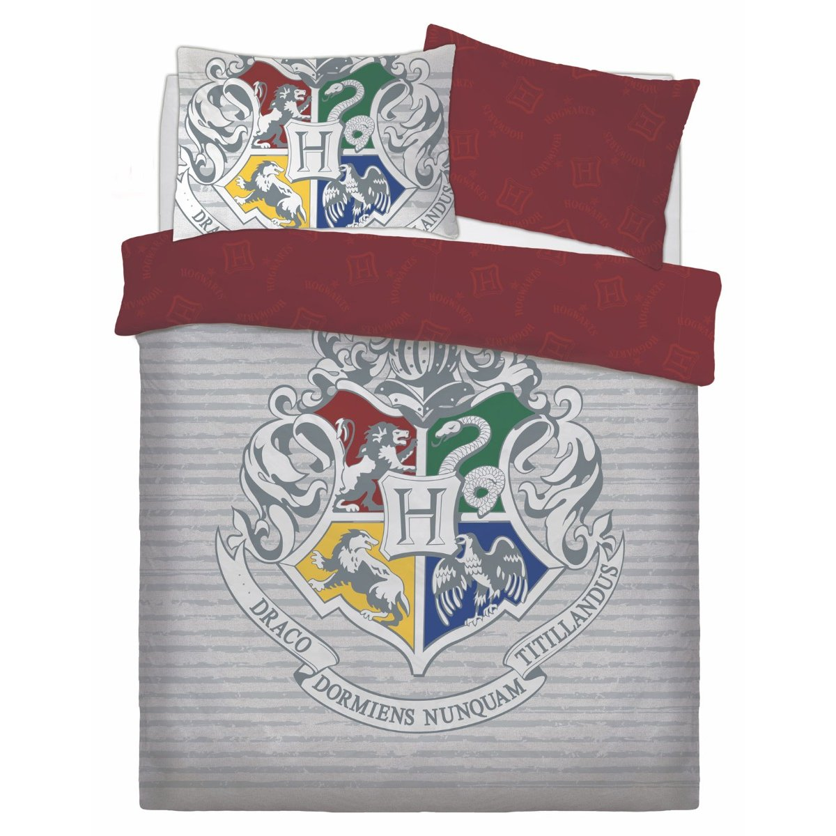 Harry Potter Witchcraft and Wizardry Bedding - Reversible Duvet Cover and Pillowcase Set