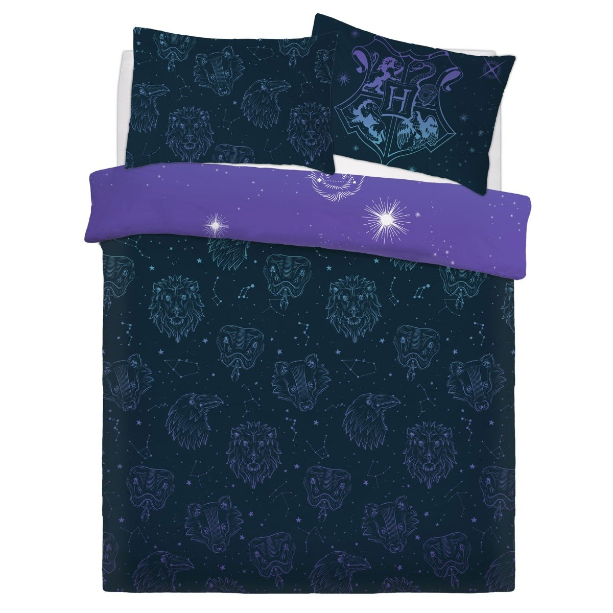 Harry Potter Celestial Magic Bedding - Reversible Duvet Cover and Pillowcase Set