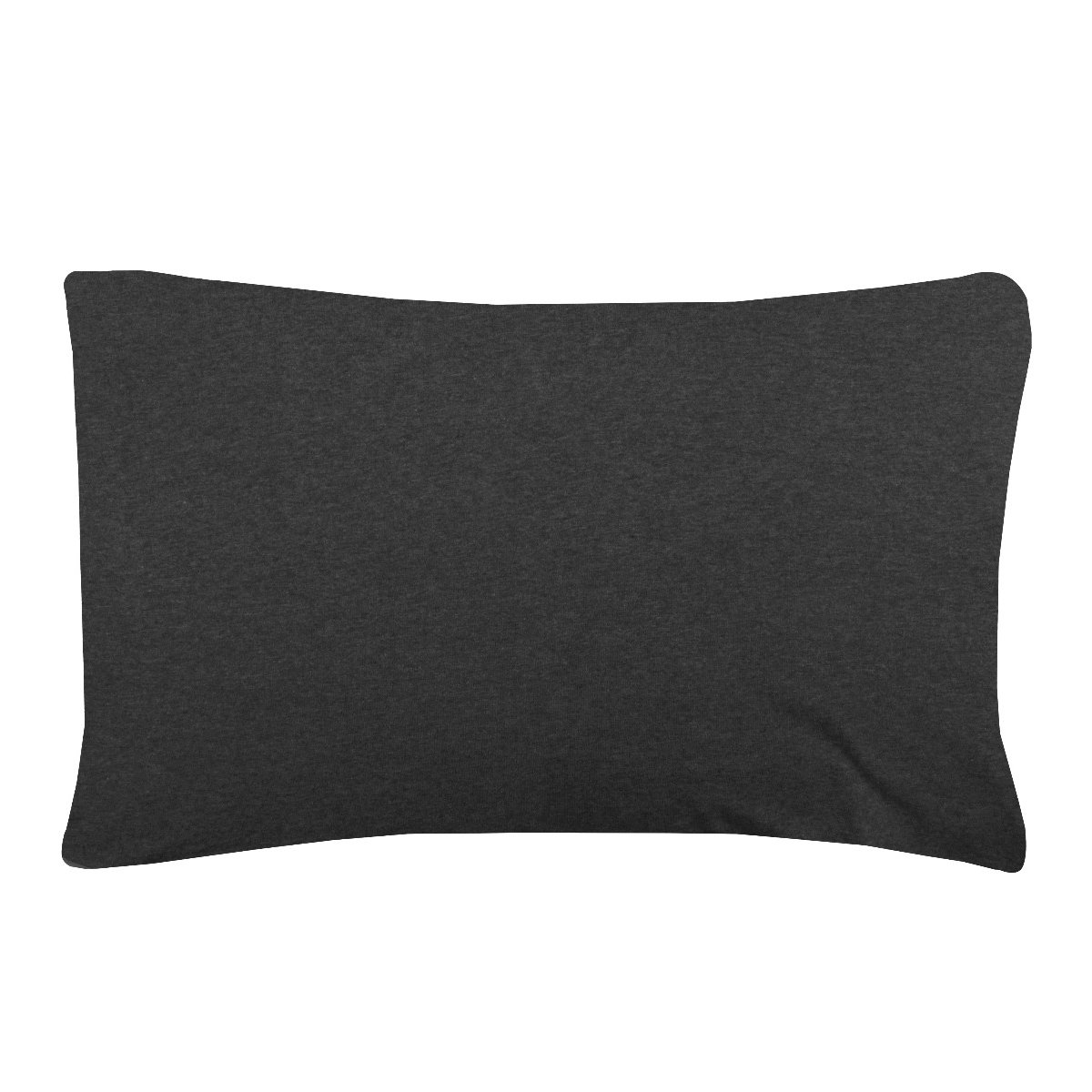 Jersey Melange Luxuriously Soft - Burnt Charcoal Pillowcase Pair