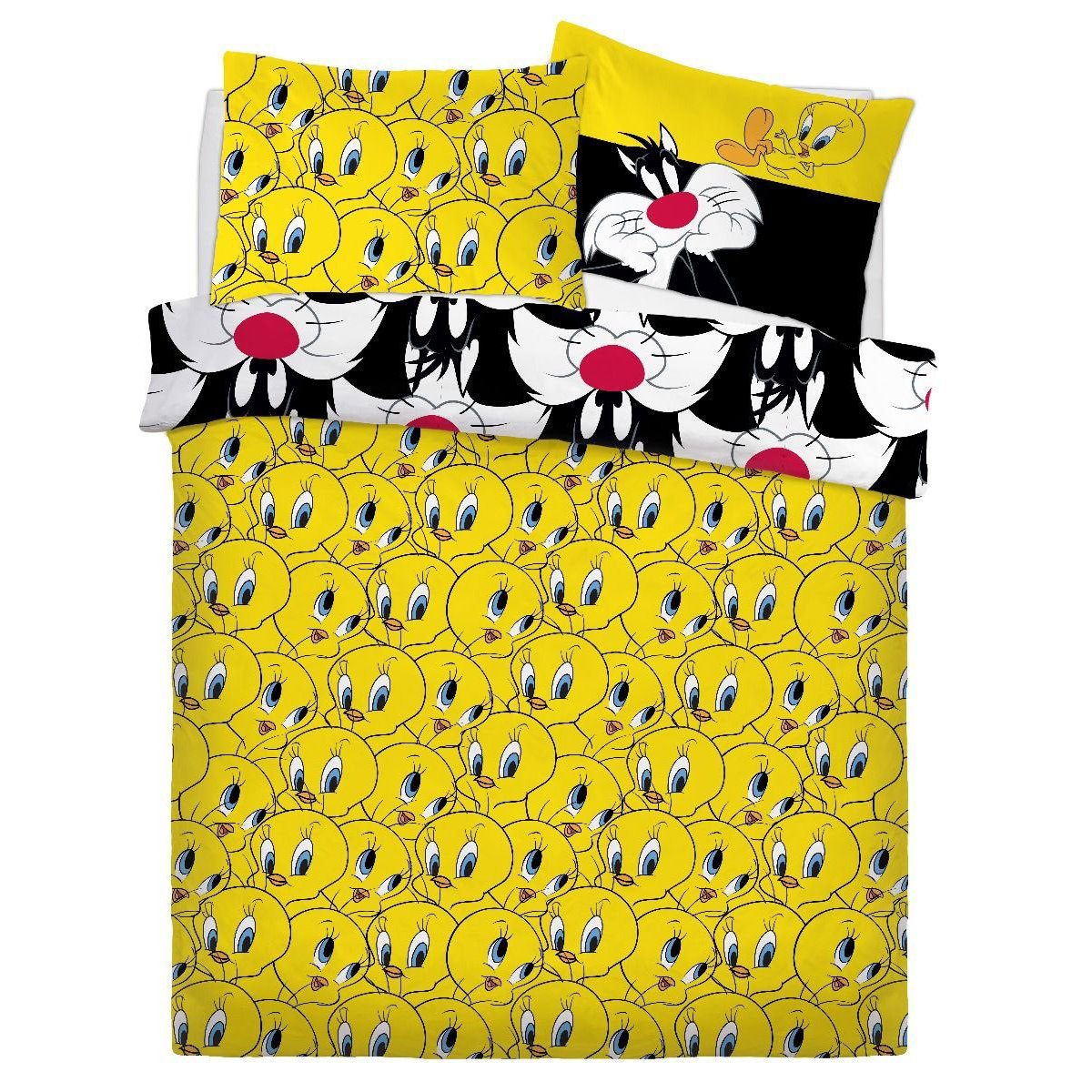 Looney Tunes Sylvester & Tweety Bedding - Reversible Duvet Cover and Pillowcase Set