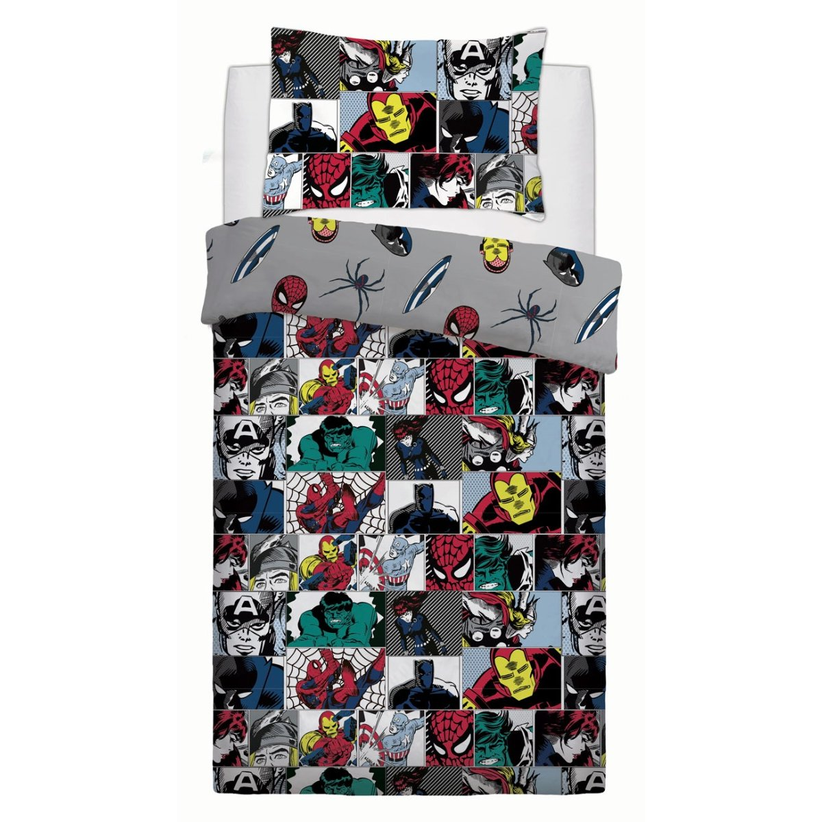 Marvel Colour Pop Bedding - Reversible Duvet Cover and Pillowcase Set