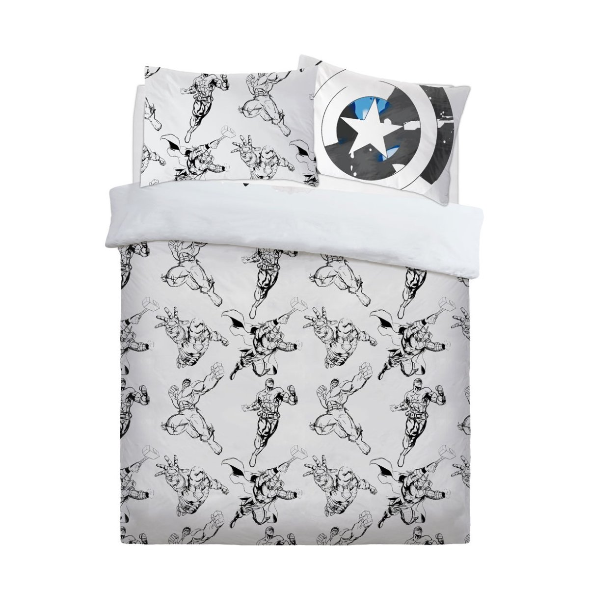 Marvel Watercolour Bedding - Reversible Duvet Cover and Pillowcase Set