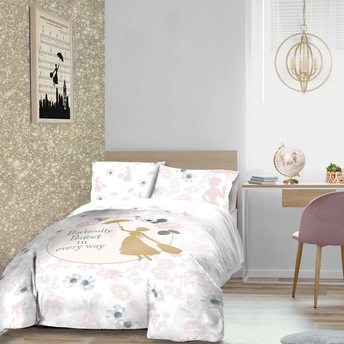 Mary Poppins Perfect Bedding - Reversible Duvet Cover and Pillowcase Set