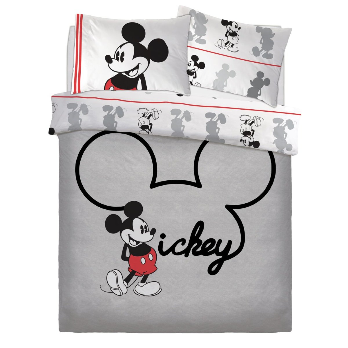 Mickey Jersey Bedding - Reversible Duvet Cover and Pillowcase Set