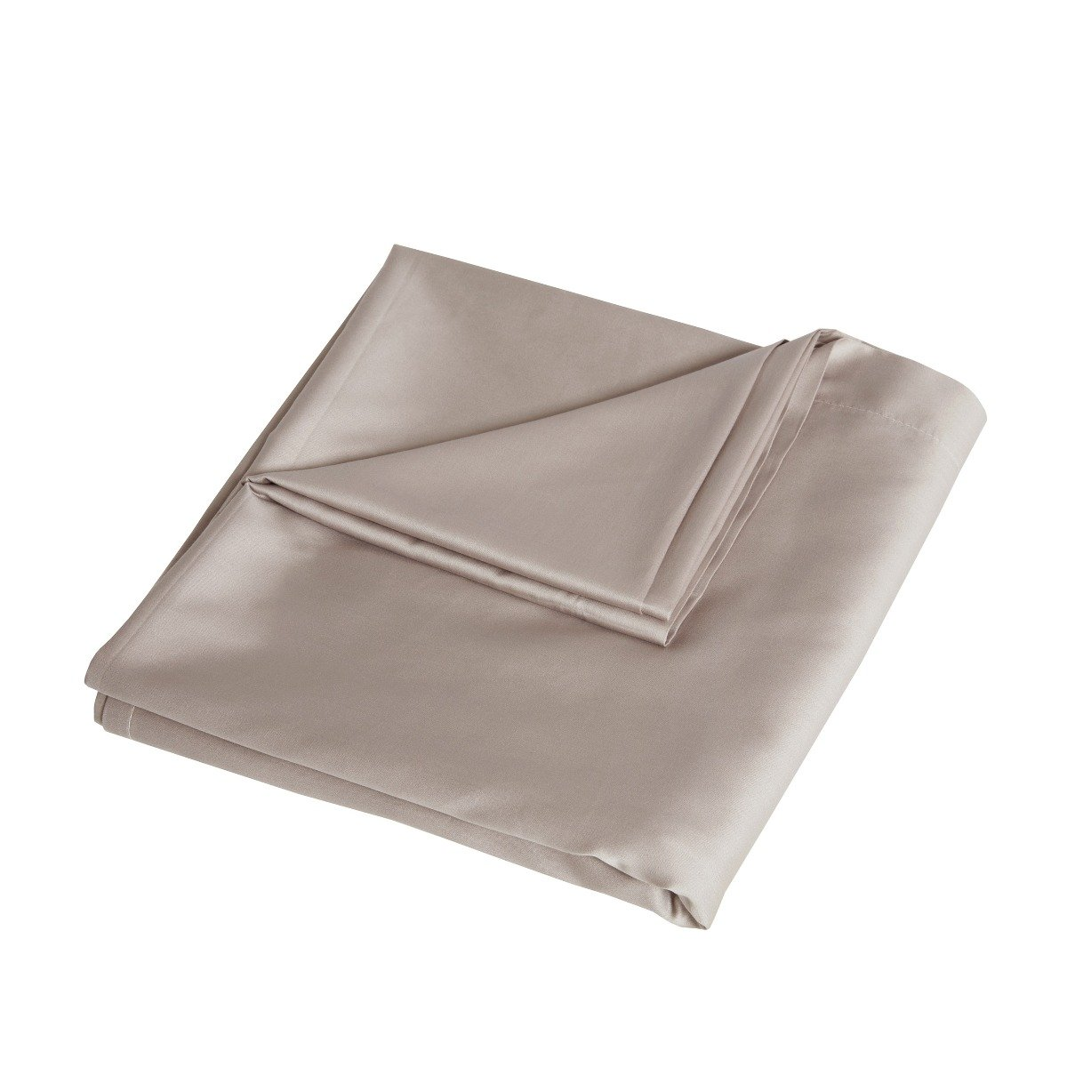 Luxury 100% Cotton Sateen 300 Thread Count Anti-Allergy Flat Bed Sheets Mink