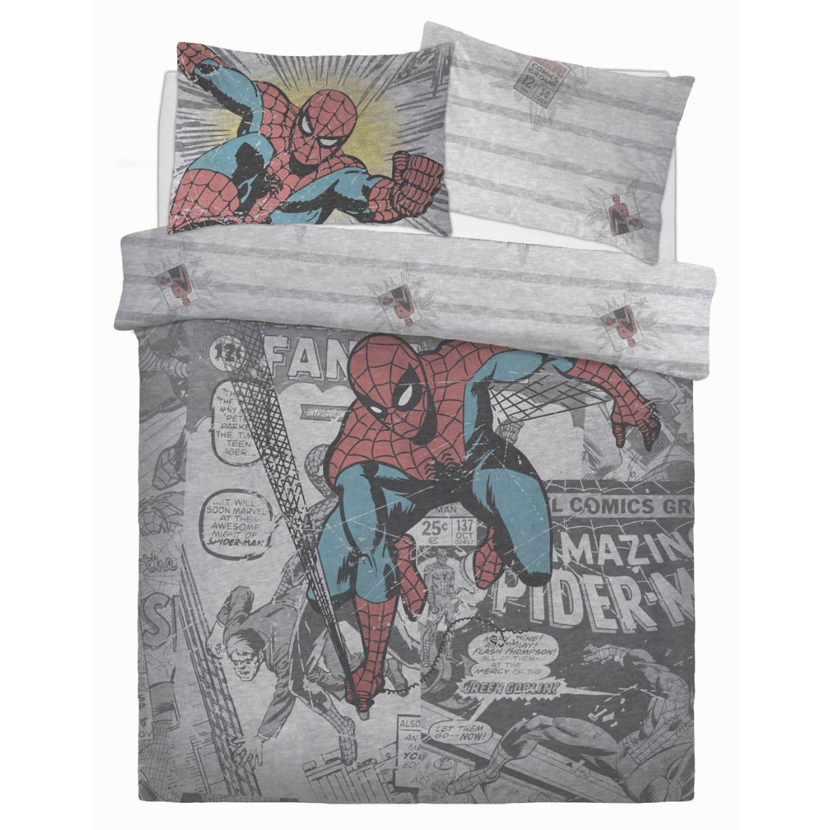 Comic Group Bedding - Reversible Duvet Cover and Pillowcase Set