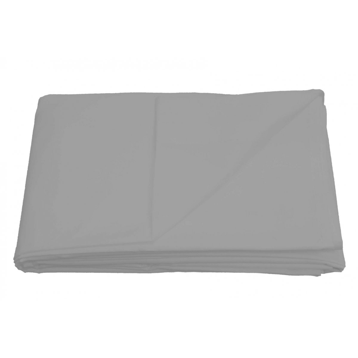Non-Iron 180 Thread Count Percale Flat Bed Sheet Silver