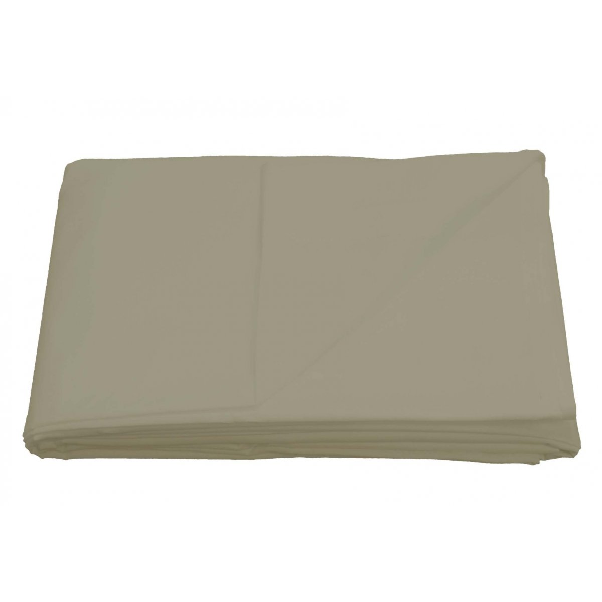 Non-Iron 180 Thread Count Percale Flat Bed Sheet Taupe