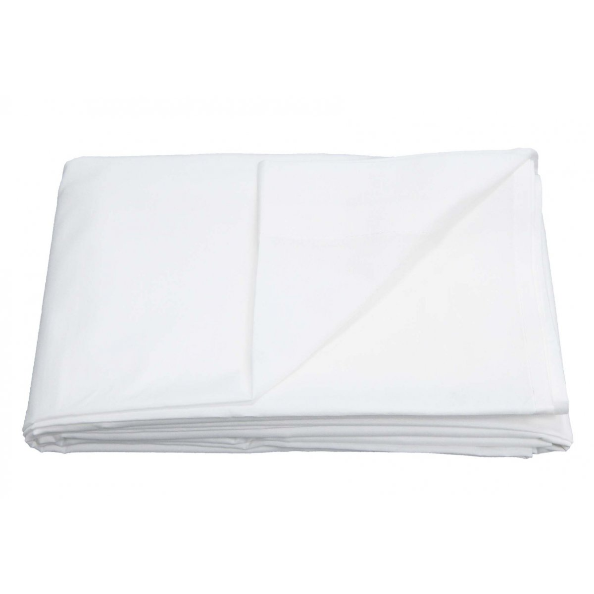 Non-Iron 180 Thread Count Percale Flat Bed Sheet White