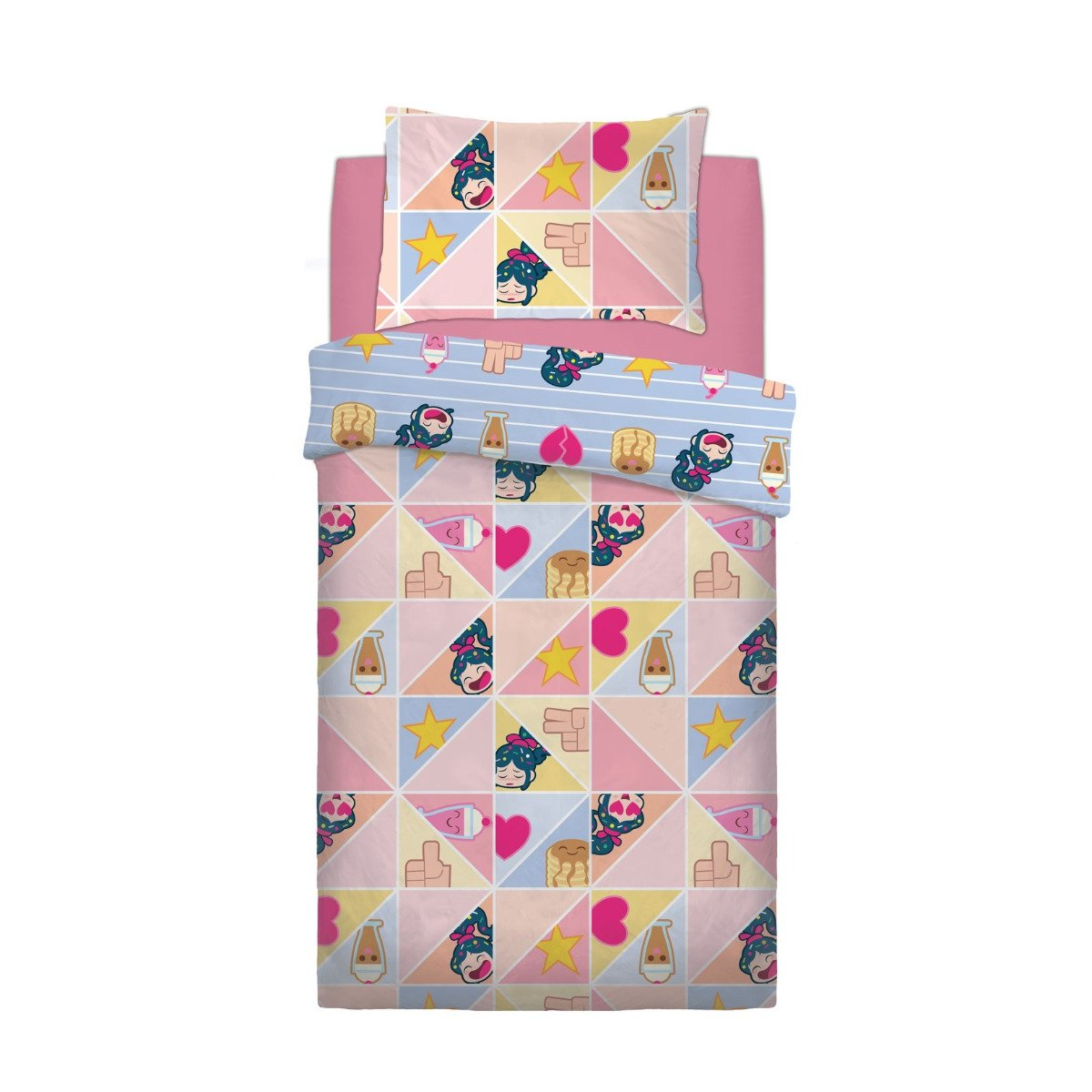 Wreck It Ralph Prismatic Bedding - Reversible Duvet Cover and Pillowcase Set