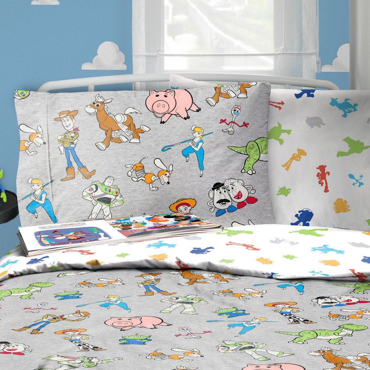 Toy Story Toys Are Back In Town Bedding - Reversible Duvet Cover and Pillowcase Set