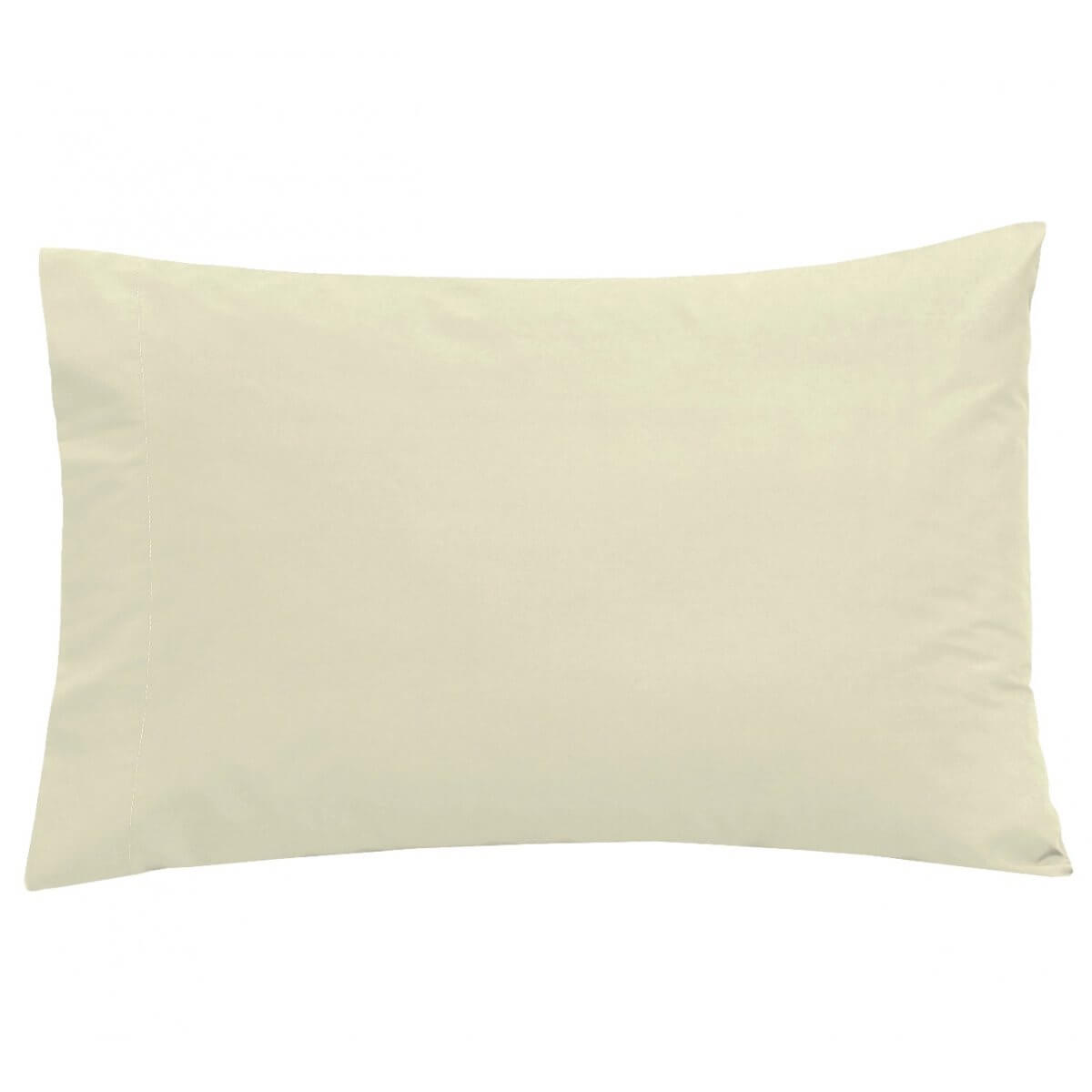 100% Egyptian Cotton 200 Thread Count Housewife Pillowcase Pair Ivory