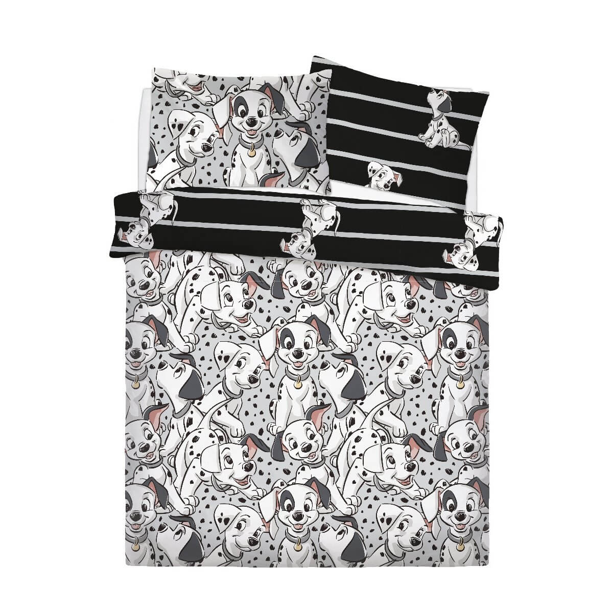 101 Dalmatians Hop Skip and Jump Bedding - Reversible Duvet Cover and Pillowcase Set