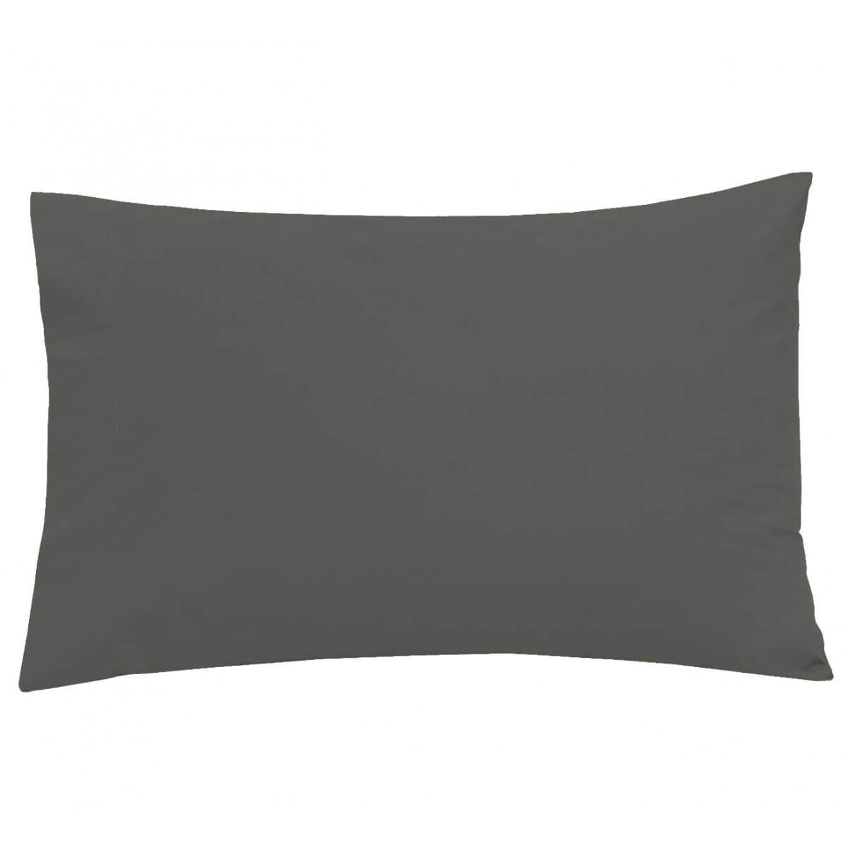 Easy Care Non-Iron Housewife Pillowcase Charcoal - Pair